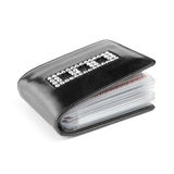 Business card holder. Decorative black business card holder / wallet on white background Stock Photo