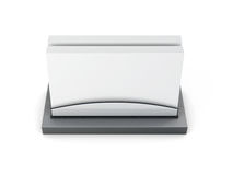 Business card holder  on white background. 3d rendering Royalty Free Stock Photos