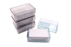 Business card holders Stock Photo