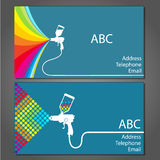 Business card for house painter Royalty Free Stock Images