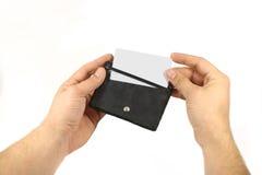 Business card holder Stock Image