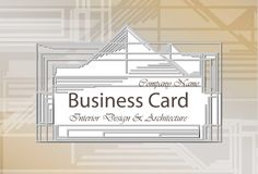 Business Card Interior Design and Architecture. Abstract modern backgrounds. Business Card Interior Design and Architecture. Abstract modern background Royalty Free Stock Photography