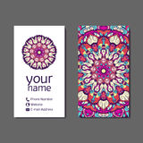 Business card or invitation. Vintage decorative elements.. Business card or invitation. Vintage decorative elements. Oriental pattern,  illustration Royalty Free Stock Images