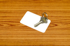 Business card and keys Stock Image
