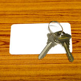 Business card and keys Royalty Free Stock Photos