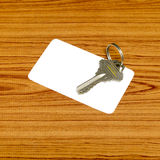 Business card and keys Stock Photos