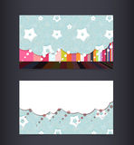 Business card layout. Editable design template Stock Images