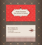 Business card layout. Editable design template Royalty Free Stock Photos