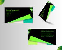 Business card layout Stock Image