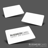 Business Card Layout & Shadows Royalty Free Stock Photography
