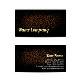 Business Card with Leather Background Royalty Free Stock Photos