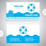 Business card - Lifebuoy symbol - marine Equipment Stock Photography