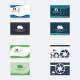 Business card logo template.  stock illustration