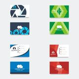 Business card logo template.  royalty free illustration