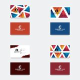 Business card logo template.  vector illustration