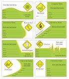 Business card. Logo and business card template design Stock Photos