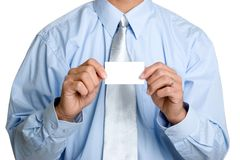 Business Card Man Stock Photography