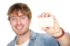 Business card man Royalty Free Stock Images