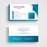 Business card modern blue and white template Royalty Free Stock Images