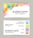 Business card. Modern design. Set VII. Royalty Free Stock Images