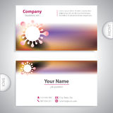 Business card - molecular formula - laboratory research Royalty Free Stock Image