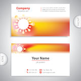 Business card - molecule virus - laboratory research Stock Image