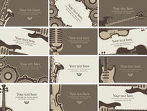 Business card music Stock Photography