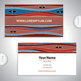 Business card with mystical patterns. Stock Photo