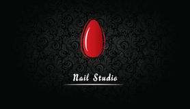 Business card for nail Studio royalty free illustration