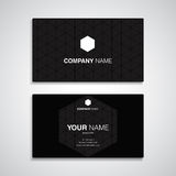 Business card name black template Royalty Free Stock Photos