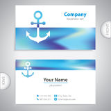 Business card - Nautical Anchor - marine Equipment Royalty Free Stock Images