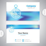 Business card - Navigation compass - maritime symbols - company Stock Photo