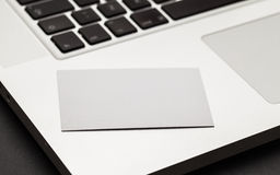 Buisness card on notebook Stock Images