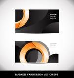 Business card orange circle vector design template eps Stock Photo