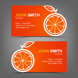Business card orange Royalty Free Stock Photography