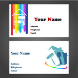 Business Card - Painter vector illustration