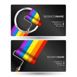 Painting business card concept Royalty Free Stock Photography
