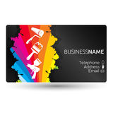 Business card for painting the layout Royalty Free Stock Photos