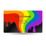 Business card for painting Stock Image