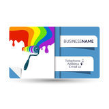 Business card for painting with a roller Royalty Free Stock Photography
