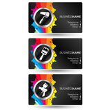 Business card painting set Royalty Free Stock Photography