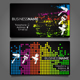 Business card for painting template design Royalty Free Stock Photos