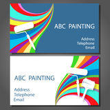 Business card for painting Royalty Free Stock Image