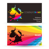 Business card painting Royalty Free Stock Images