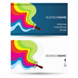 Business card for painting Stock Images
