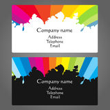 Business card for painting vector Royalty Free Stock Photos