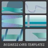 Business card pattern. Illustration of blue business card templates Stock Images