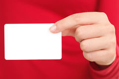 Business card person Royalty Free Stock Photos