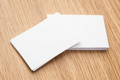 Business card pile Royalty Free Stock Images