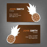 Business card pineapple Stock Image